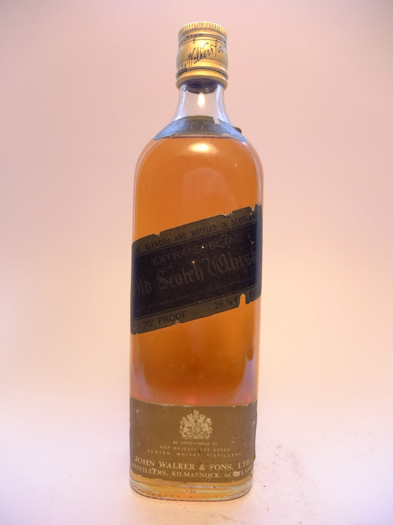 Johnnie Walker Black Label 12YO Blended Scotch Whisky - 1970s	(40%, 75cl)