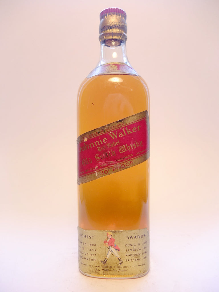 Johnnie Walker Red Label Blended Scotch Whisky - 1960s (40%, 75cl)