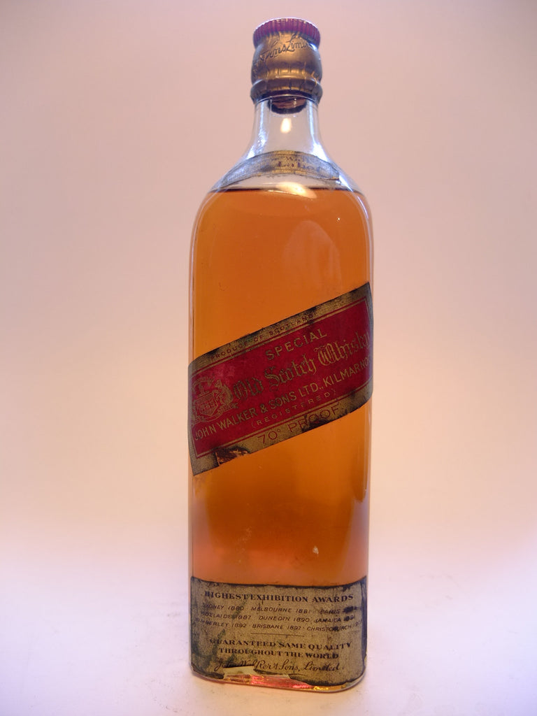 Johnnie Walker Red Label Blended Scotch Whisky - 1942 (40%, 75cl)