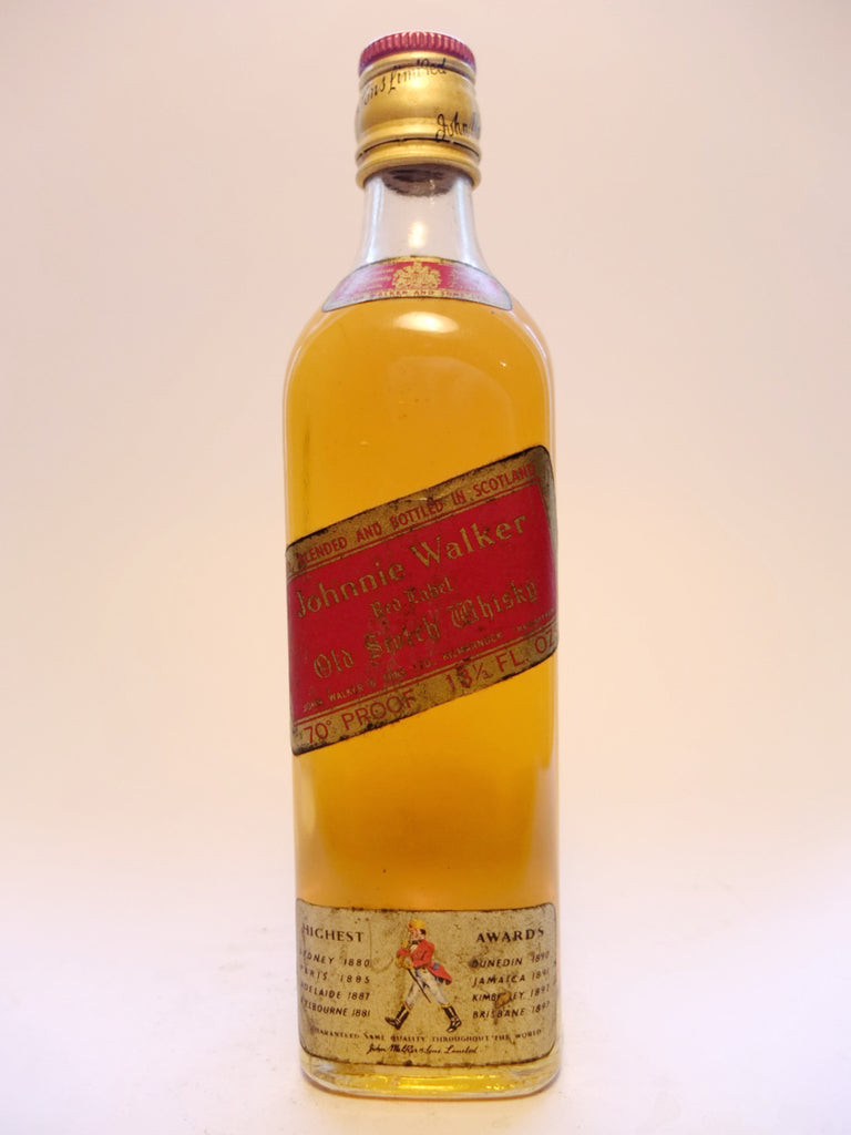 Johnnie Walker Red Label Blended Scotch Whisky - 1970s (40%, 37.5cl)