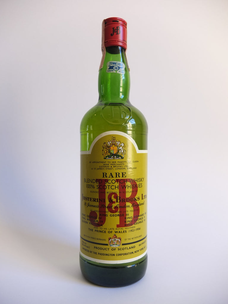 J & B, Blended Scotch Whisky - Early 1980s (43%, 75cl)