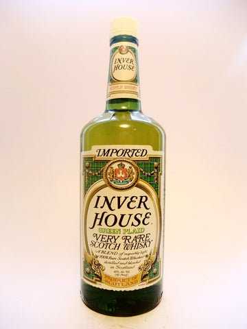 Inver House Green Plaid Rare Blended Scotch Whisky -	1980s (40%, 100cl)