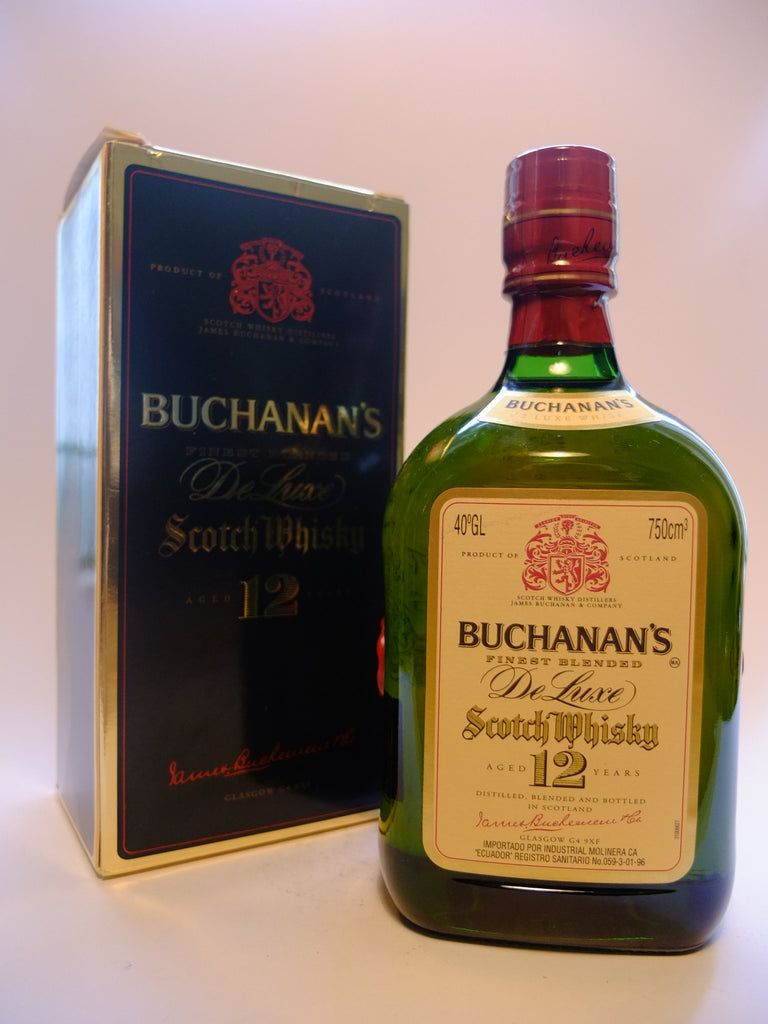 James Buchanan's Finest 12 Year Old De Luxe Scotch Whisky - Late 1970s/Early 1980s (40%, 75cl)	1	110
