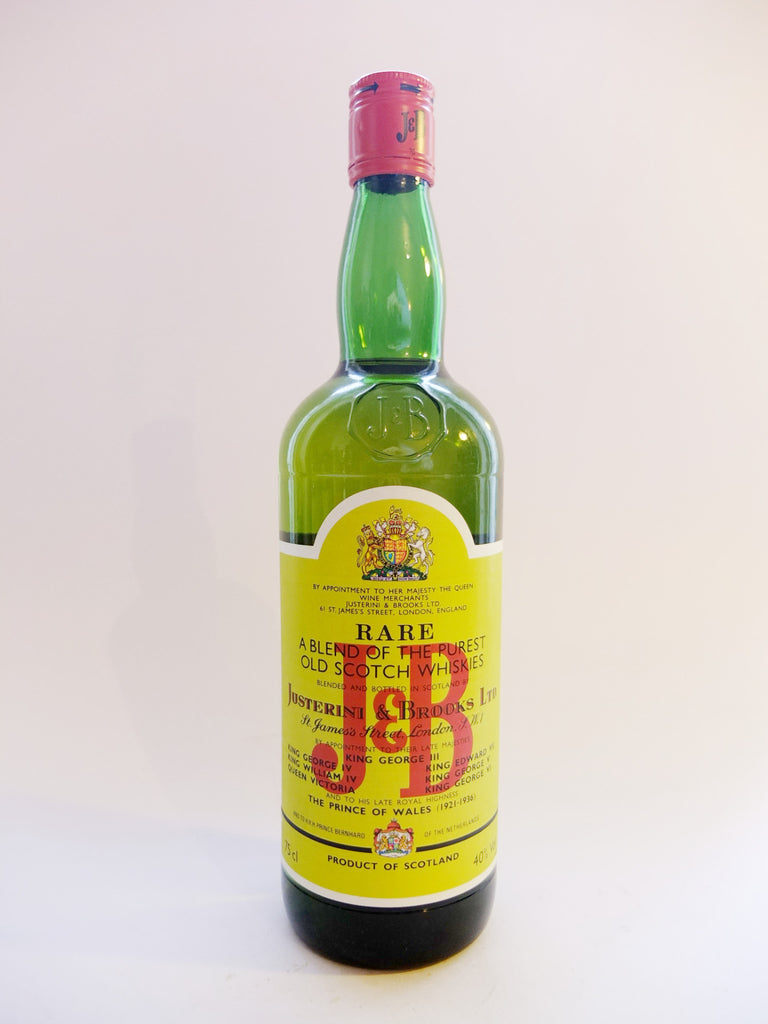 J & B Blended Scotch Whisky - 1980s (43%, 75cl)