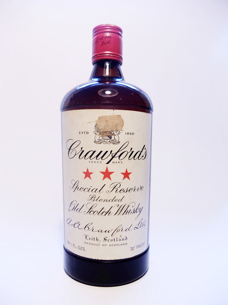 Crawford's 3* Special Reserve Blended Scotch Whisky - 1960s (40%, 75.7cl)
