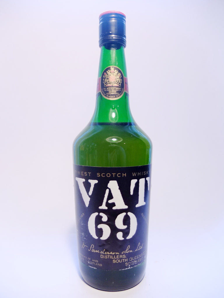Sanderson's VAT 69 Finest Blended Scotch Whisky - 1960s (40%, 75.7cl)