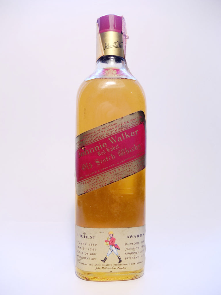 Johnnie Walker Red Label Blended Scotch Whisky - 1970s (40%, 75cl)