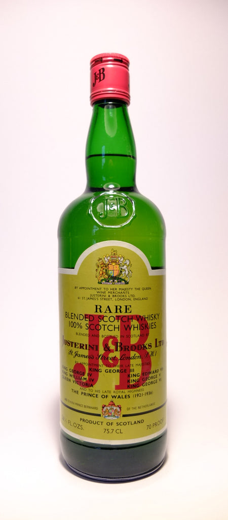 J & B, Blended Scotch Whisky - 1960s (40%, 75.7cl	)