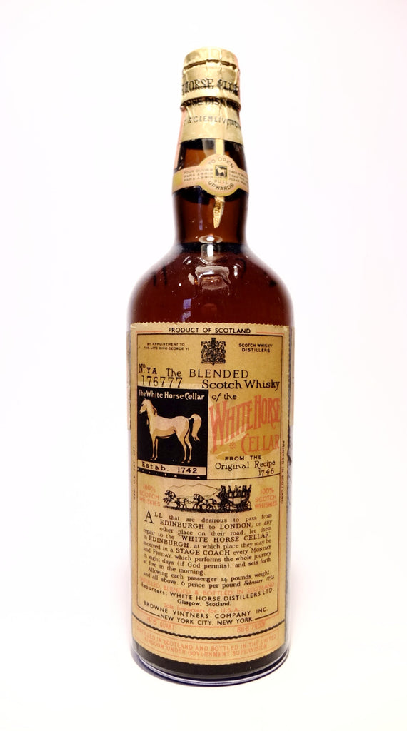 White Horse Blended Scotch Whisky - c. 1952 (43.4%, 75.7cl)