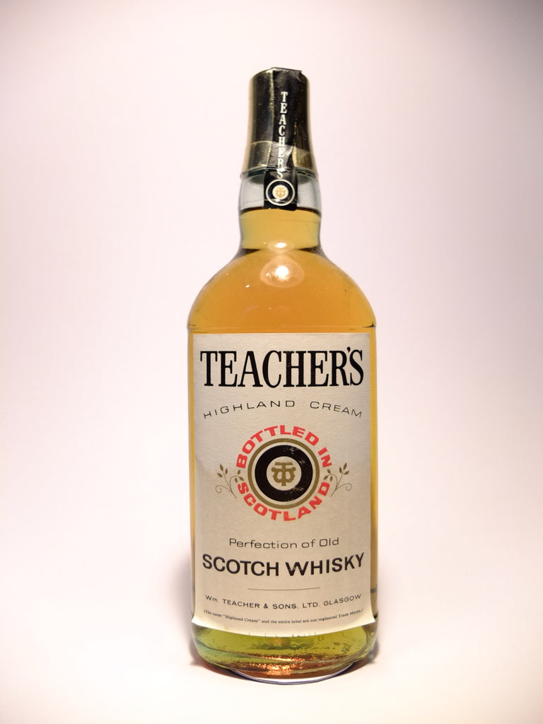 Teacher's Highland Cream Blended Scotch Whisky - 1970s (40-43%, 75cl)