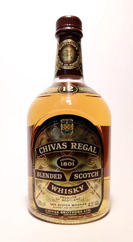 Chivas Regal 12 Year Old Blended Scotch Whisky - Early 1980s (43%, 75cl)