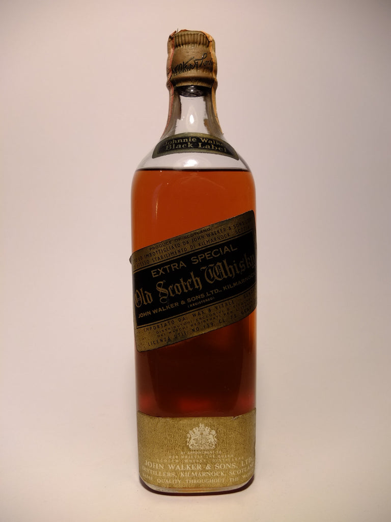 Johnnie Walker Black Label 12 Year Old 'Extra Special' Old Blended Scotch Whisky - 1960s (43%, 75cl)