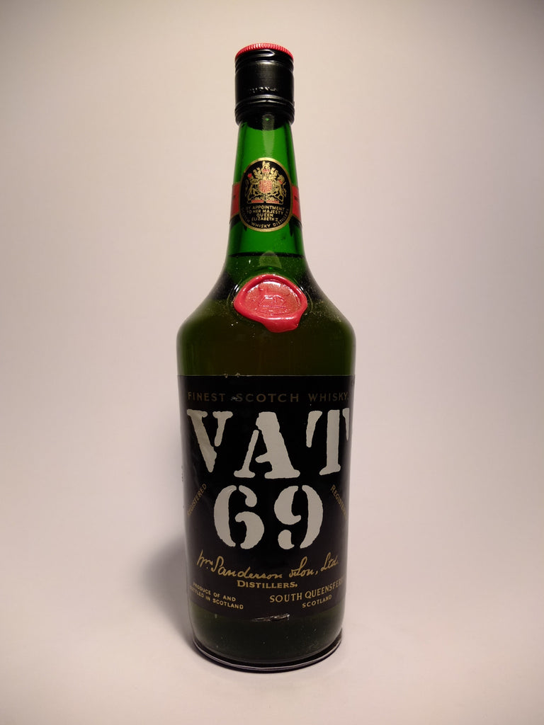 Sanderson's VAT 69 Finest Blended Scotch Whisky	 - 1960 (40%, 75.7cl)