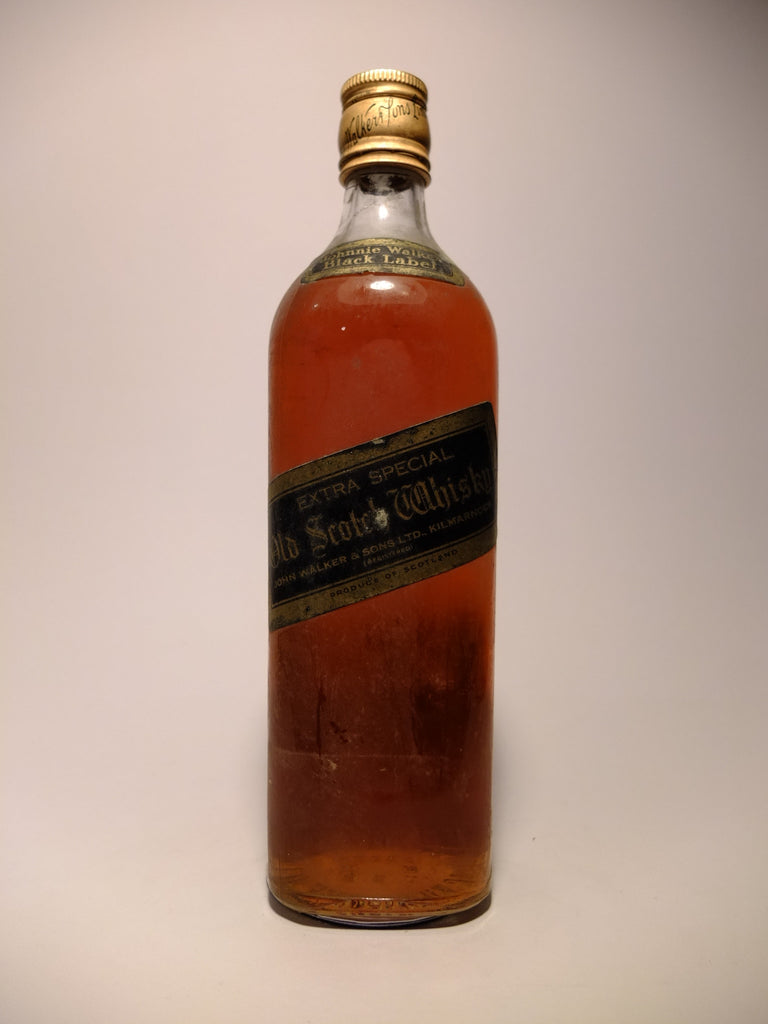 Johnnie Walker Black Label 12YO Blended Scotch Whisky - 1970s (40-43%, 75cl)