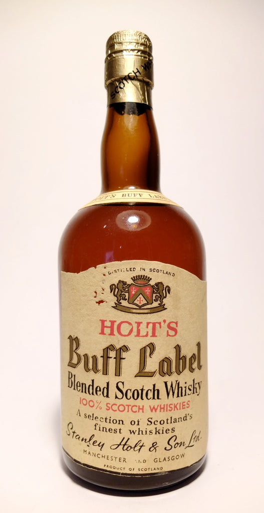 Holt's Buff Label Blended Scotch Whisky - 1950s (ABV Not Stated, 75cl)