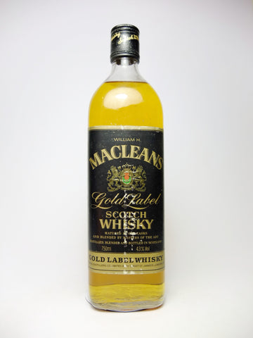 Imperial Distillers's William H. Macleans Gold Label Blended Scotch Label - 1970s (43%, 75cl)
