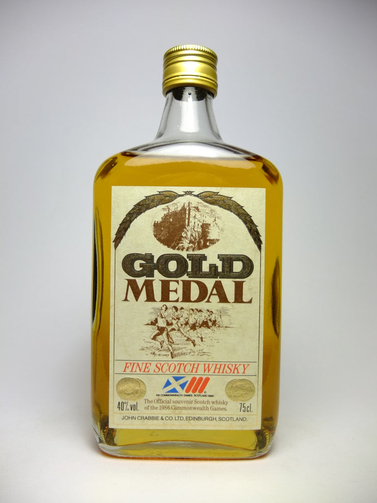 John Crabbie Commonwealth Games Gold Medal Blended Scotch Whisky, distilled 1974, bottled 1986 (40%, 75cl)
