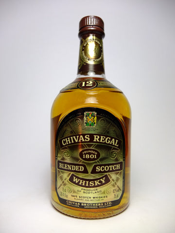 Chivas Regal 12YO Blended Scotch Whisky - early 1980s (43%, 75cl)