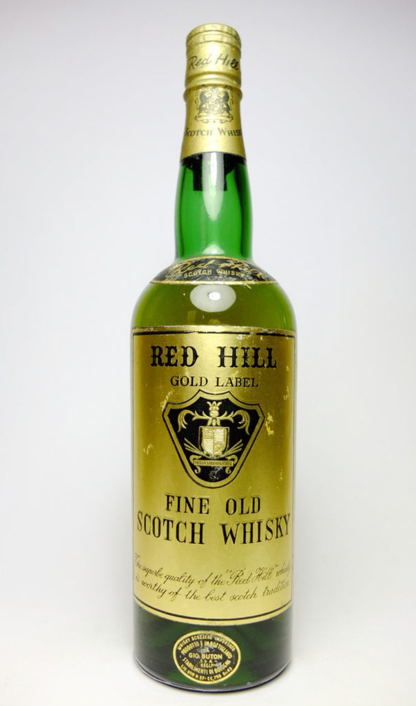 Red Hill Gold Label Fine Old Scotch Whisky - pre-1964 (43%, 75cl)