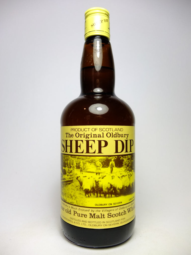 M.J. Dowdeswell & Co.'s The Original Sheep Dip 8YO Pure Malt Blended Sscotch Whisky - 1980s (40%, 70cl)