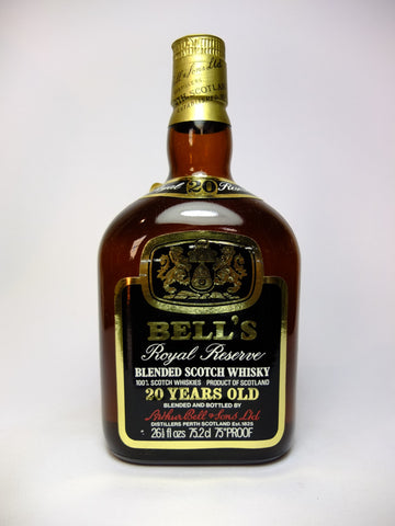 Bell's 20YO Royal Reserve Blended Scotch Whisky - 1970s (43%, 75.2cl)
