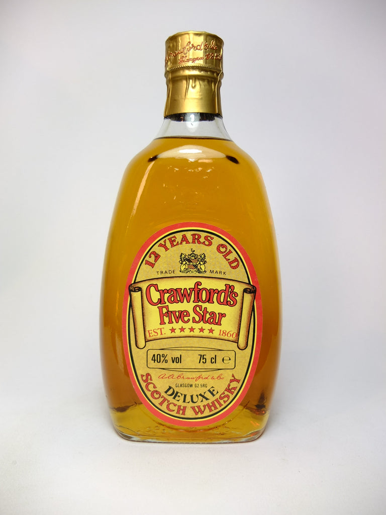 Crawford's 5* 12YO Blended Scotch Whisky - 1980s (40%, 75cl)
