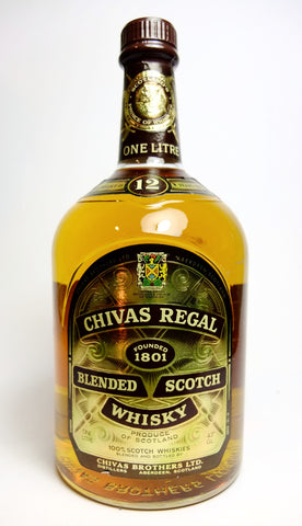 Chivas Regal, 12YO Blended Scotch Whisky - 1980s (43%, 100cl)