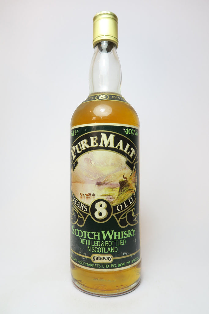 Gateway Foodmarkets Ltd. 8YO Pure Malt Blended Scotch Whisky - 1970s (40%, 75cl)