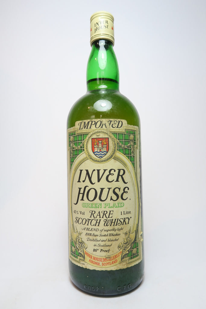 Inver House Green Plaid Rare Blended Scotch Whisky - 1970s (43%, 100cl)