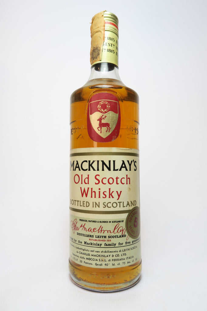 Mackinlay's 5YO Old Scotch Whisky - 1970s (40%, 75cl)