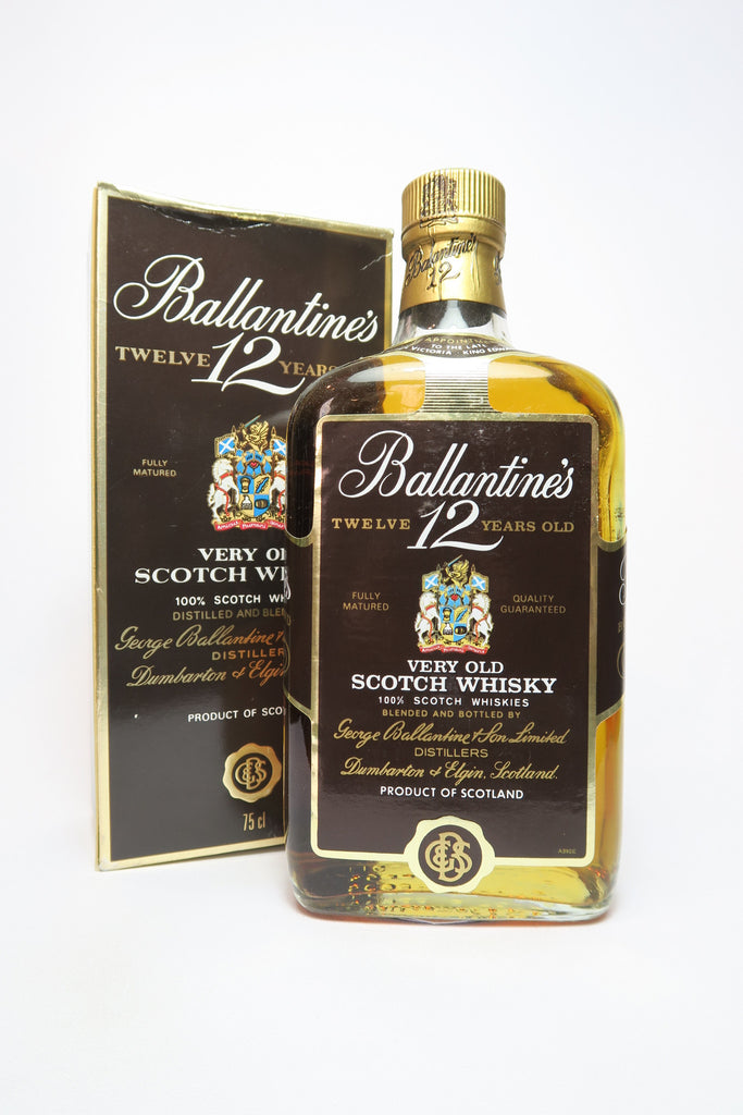 Ballantine's 12YO Very Old Scotch Whisky - 1980s (40-43%, 75cl)