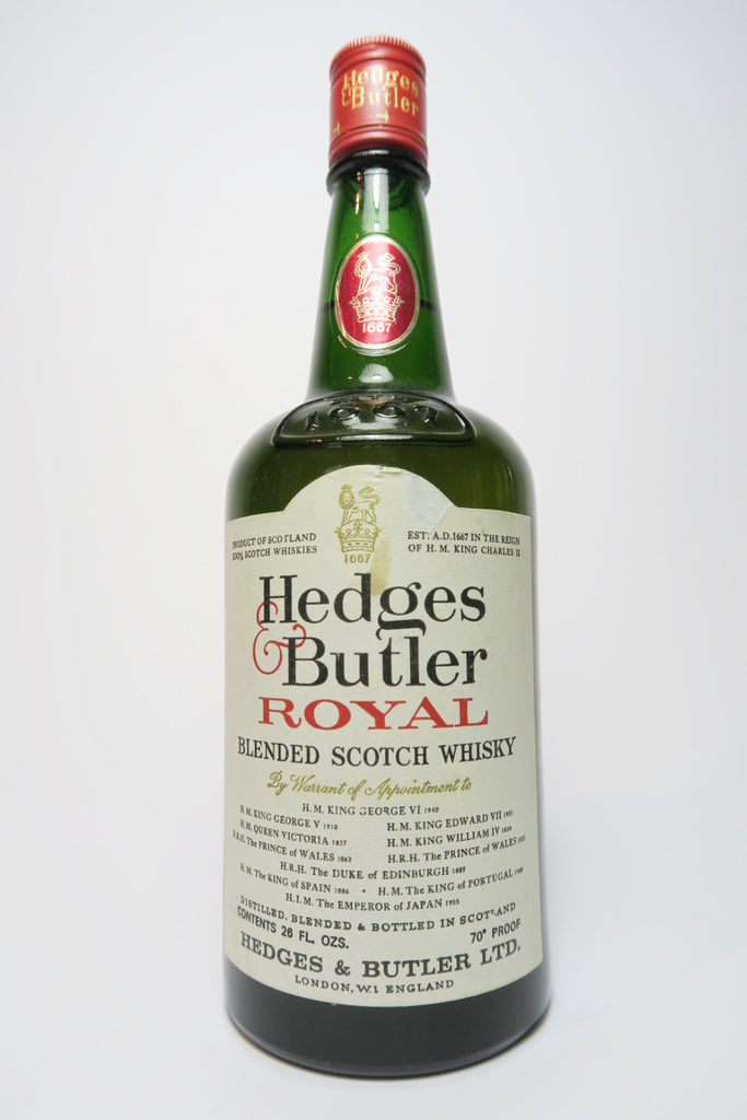 Hedges & Butler Royal Blended Scotch Whisky - 1970s (40%, 75cl)