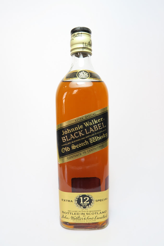Johnnie Walker Black Label 12YO Blended Scotch Whisky - 1970s (43%, 75cl)