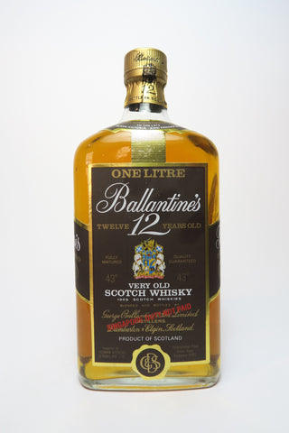 Ballantine's 12YO Very Old Scotch Whisky - 1970s (43%, 100cl)