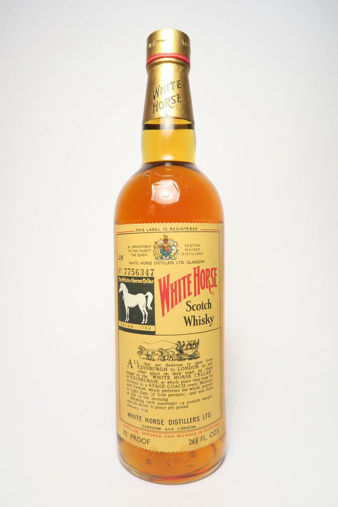 White Horse Blended Scotch Whisky - 1960s (40%, 75cl)