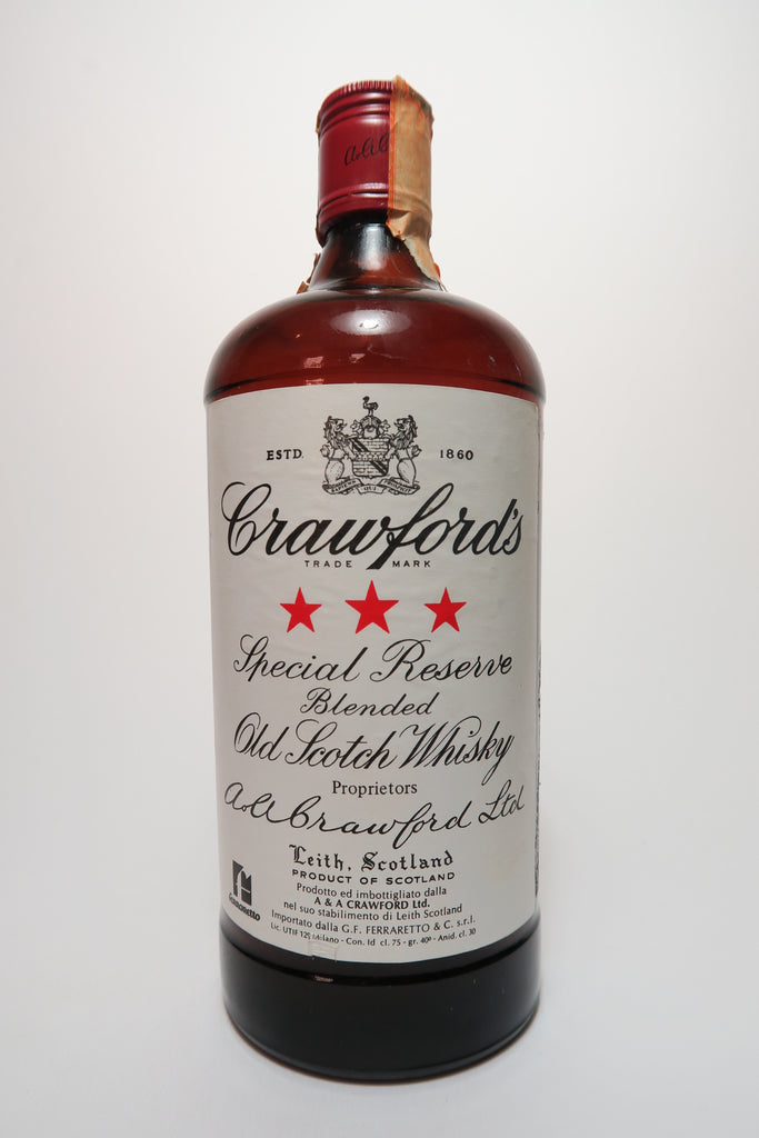 Crawford's Blended Scotch Whisky - 1970s (40%, 75cl)