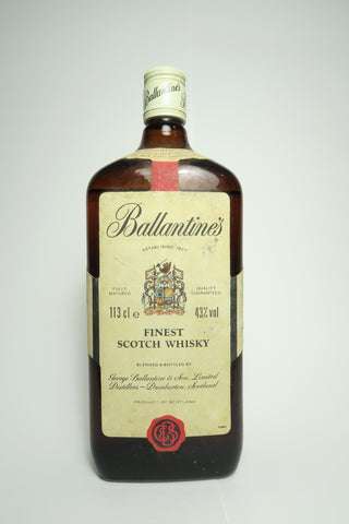 Ballantine's Finest Blended Scotch Whisky	- 1980s (43%, 113cl)
