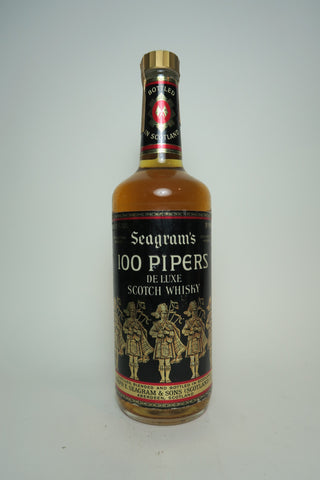 Seagram's 100 Pipers Deluxe Blended Scotch Whisky - 1970s (40%, 75cl)