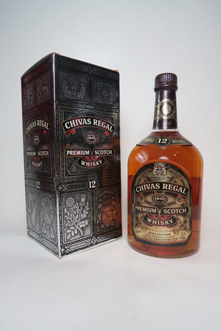 Chivas Regal 12 Year Old Blended Scotch Whisky - post-1990 (40%, 100cl)