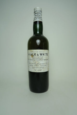 Buchanan's Black & White Blended Scotch Whisky - 1950s (40%, 75cl)