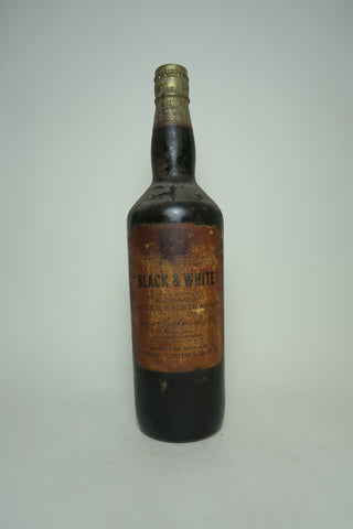 Buchanan's Black & White Blended Scotch Whisky - 1960s (40%, 75cl)