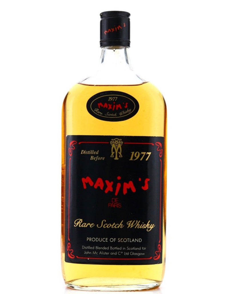 John McAlister and Co.'s Maxim's de Paris Blended Scotch Whisky - Distilled before 1977 (Not Stated, 75cl)