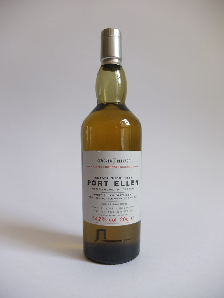 Port Ellen 28 Year Old Islay Single Malt Scotch Whisky 7th Release- Distilled 1979 / Bottled 2007 (54.7%, 20cl)