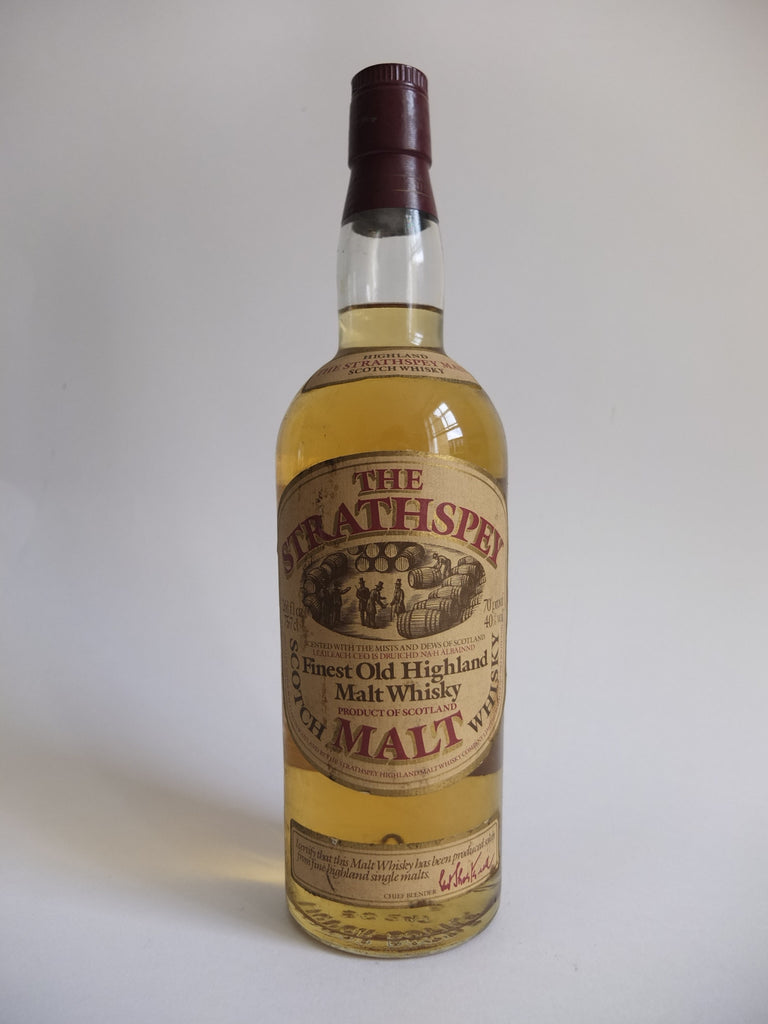 The Strathspey Finest Old Highland Malt Whisky - 1970s (40%, 75.7cl)