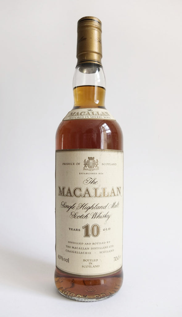 The Macallan 10 Year Old Single Highland Malt Scotch Whisky - 1980s (40%, 70cl)