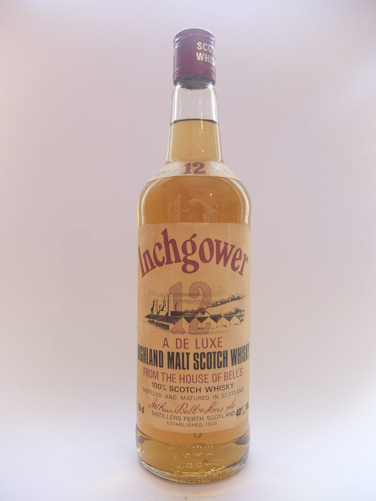 Bell's Inchgower 12 Year Old De Luxe Highland Scotch Whisky - 1970s (40%,	75cl)