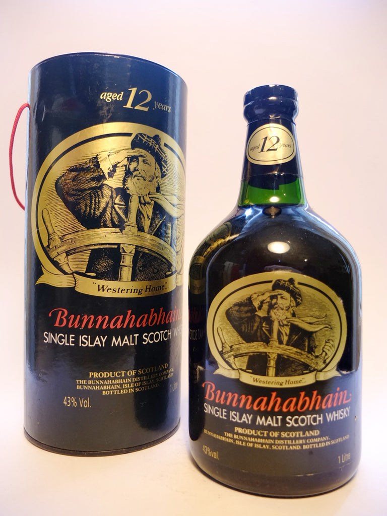 Bunnahabhain 12 Year Old Single Islay Malt Scotch Whisky - 1990s (40%, 100cl)