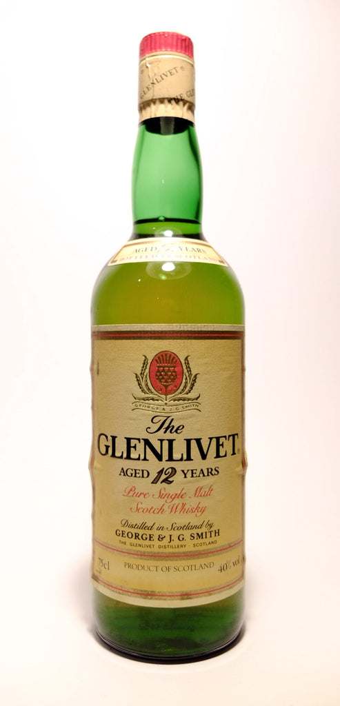 The Glenlivet 12 Year Old Pure Single Malt Scotch Whisky - 1980s (40%, 75cl)