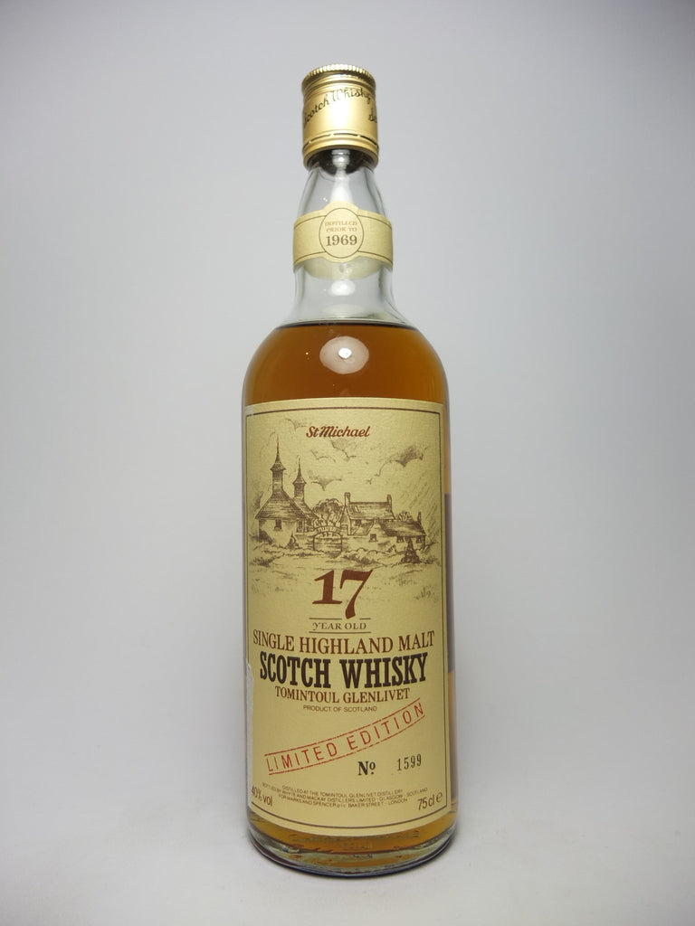 Tomintoul Glenlivet 17YO Highland Single Malt Scotch Whisky - pre-1969 (40%, 75cl)