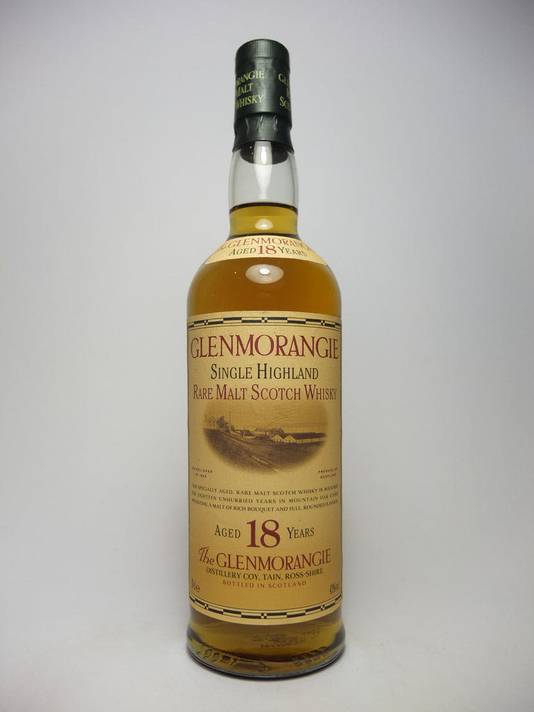 Glenmorangie 18YO Single Highland Malt Scotch Whisky - 1980s (40%, 70cl)